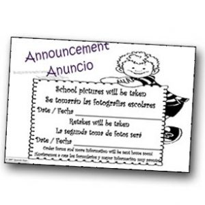 Spanish Steps - School Pictures Announcement Notepad
