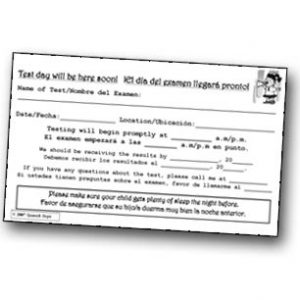 Spanish Steps - It's Test Time Notepad